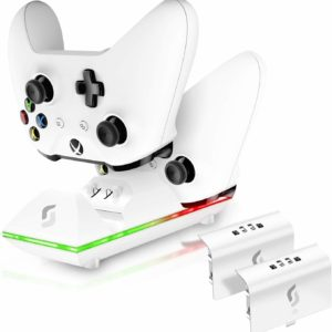 Sliq Gaming Xbox One Controller Charger Station and Battery Pack – White