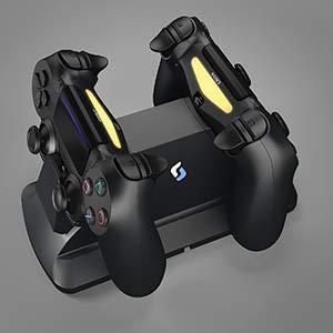 ps4 controller charger station status lights