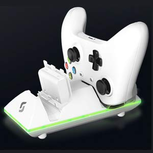 Xbox One Controller Charger Station and Battery Pack - White