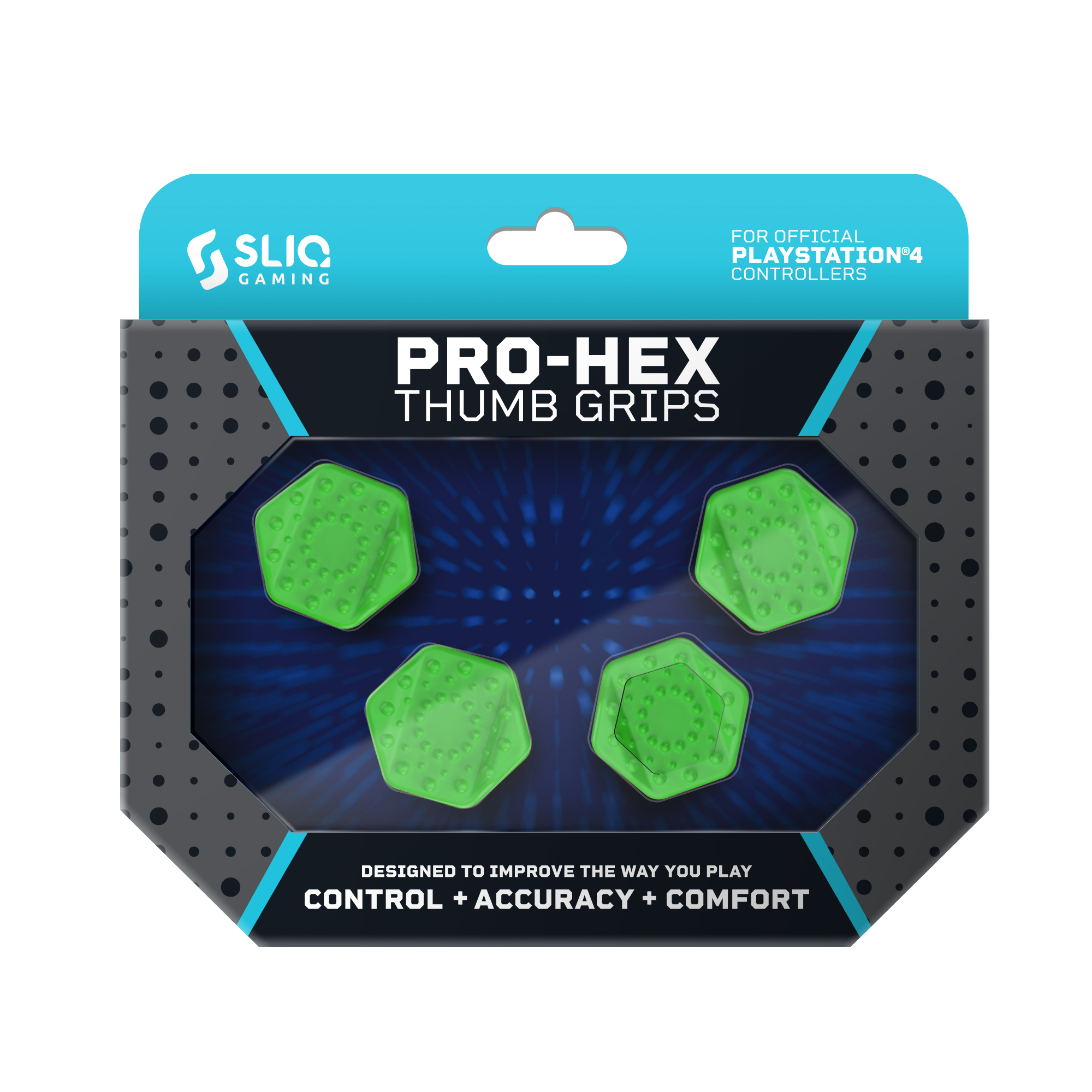 Sliq Gaming Pro-Hex Thumb Grip - PlayStation 4|PS5 - Green