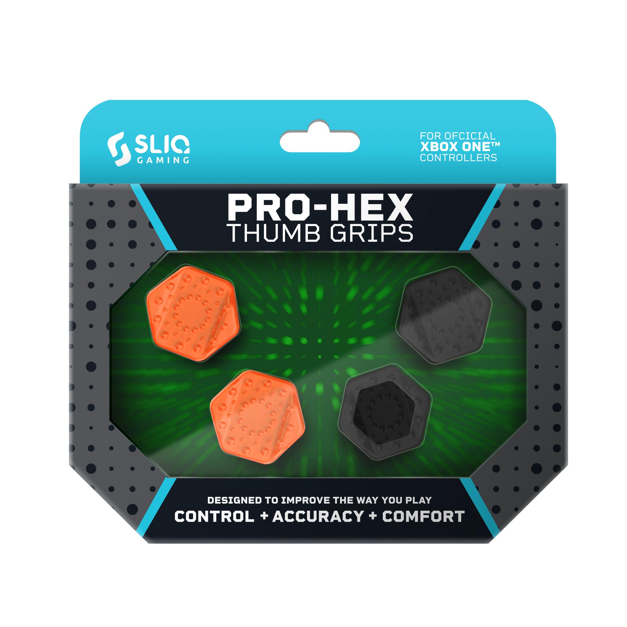 Pro Hex Thumb Grips – Xbox One - Black/Orange