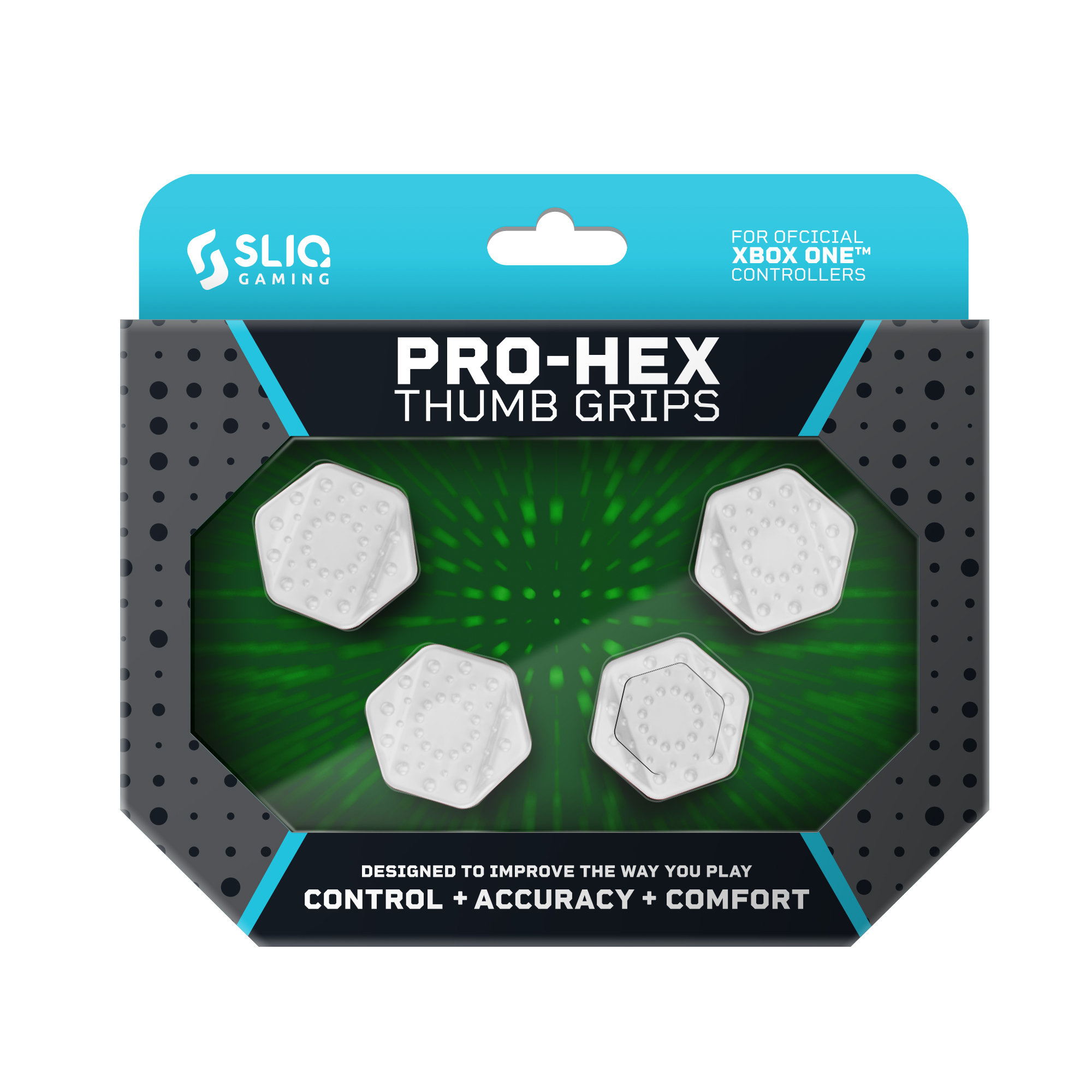 Sliq Gaming Pro-Hex Thumb Grip - Xbox One - White