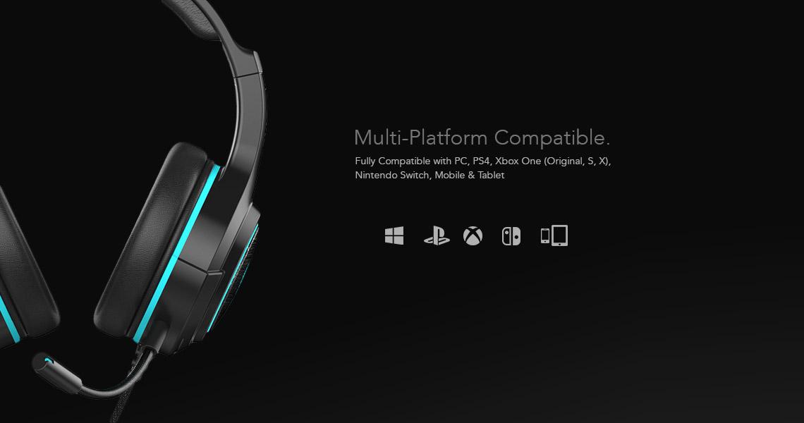 Sliq Gaming Element Core Headset Multiple Platform Compatibility