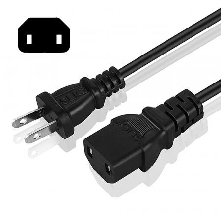 Sliq Gaming Power Cable – 2-Pin/Prong – 10 Feet
